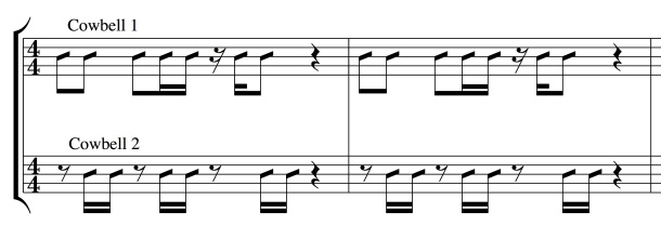 Blurred Lines (Robin Thicke)  - cowbell parts